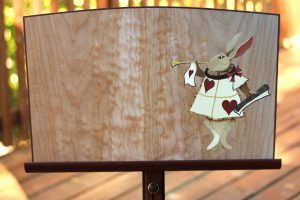 Music Stand - White Rabbit detail